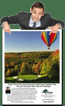 Golf Course Print Advertising